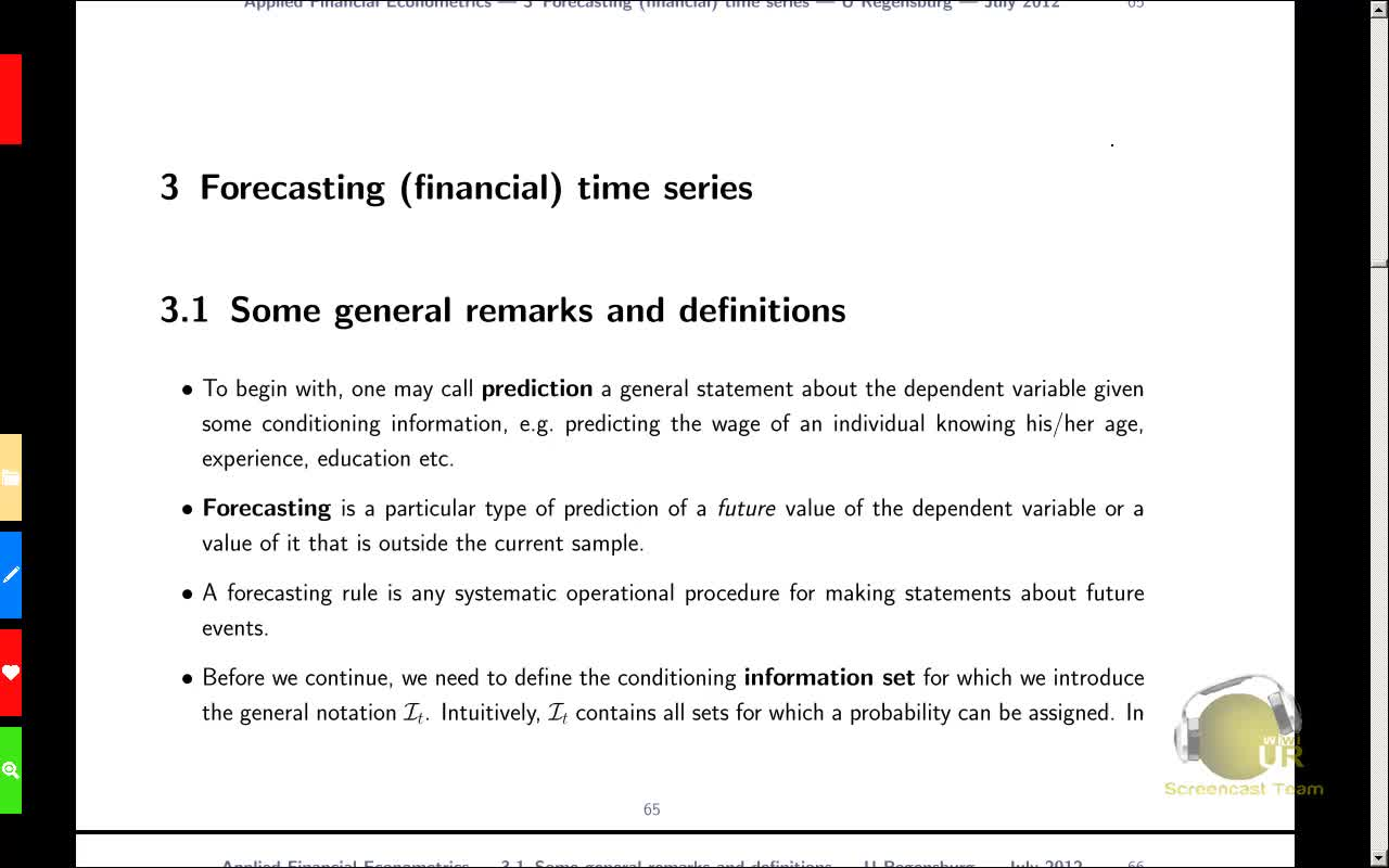 Applied Financial Econometrics, Lecture 10