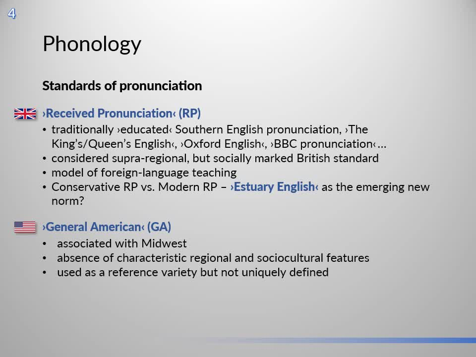 Introduction to English Linguistics I: Theory and Structure – 04 Phonology – B