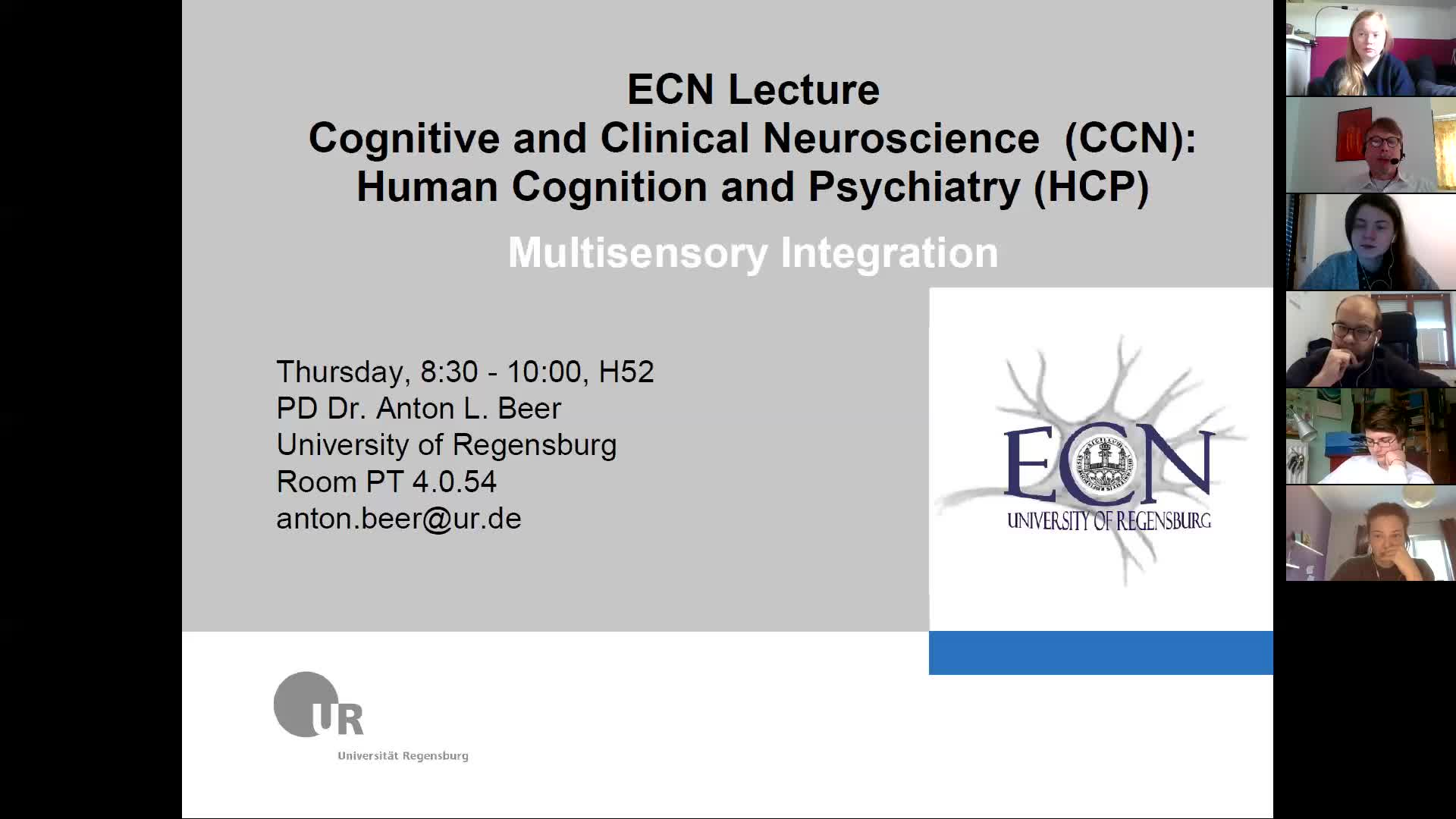 ECN-CCN-Lecture 4: Multisensory Integration