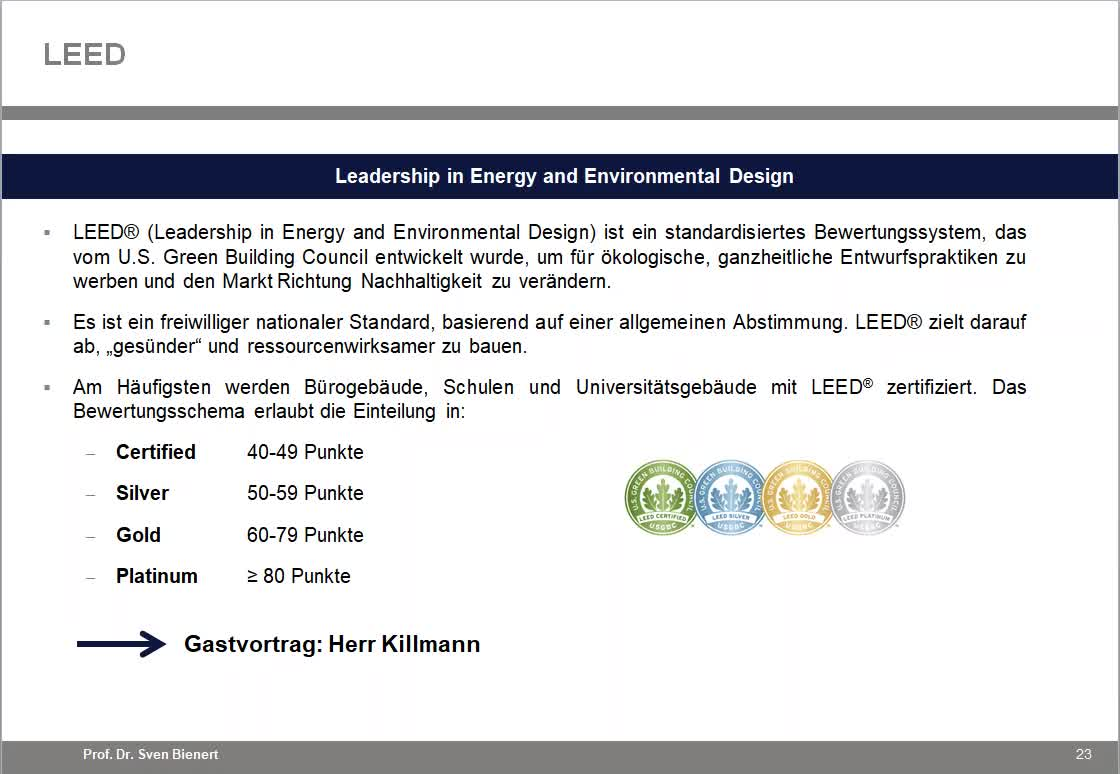 Sustainable Real Estate VL#05 - Teil 2