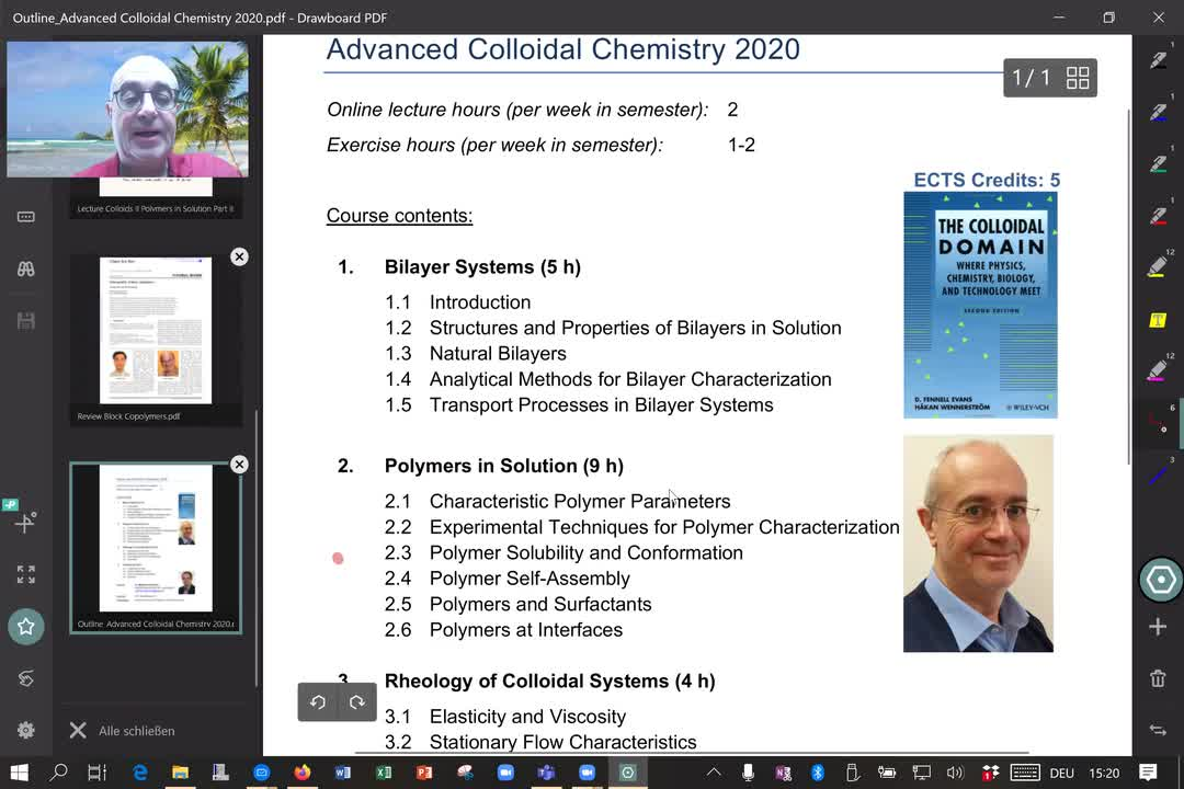 Colloids II Polymers in solution Part 3
