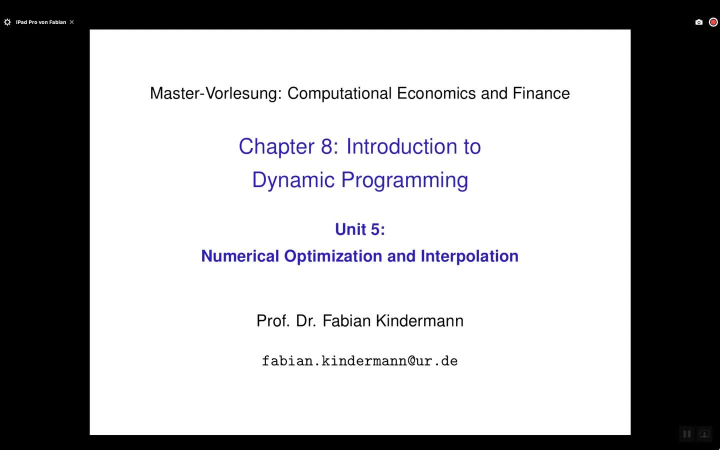 Chapter 8 - Unit 5 - Numerical Optimization and Interpolation