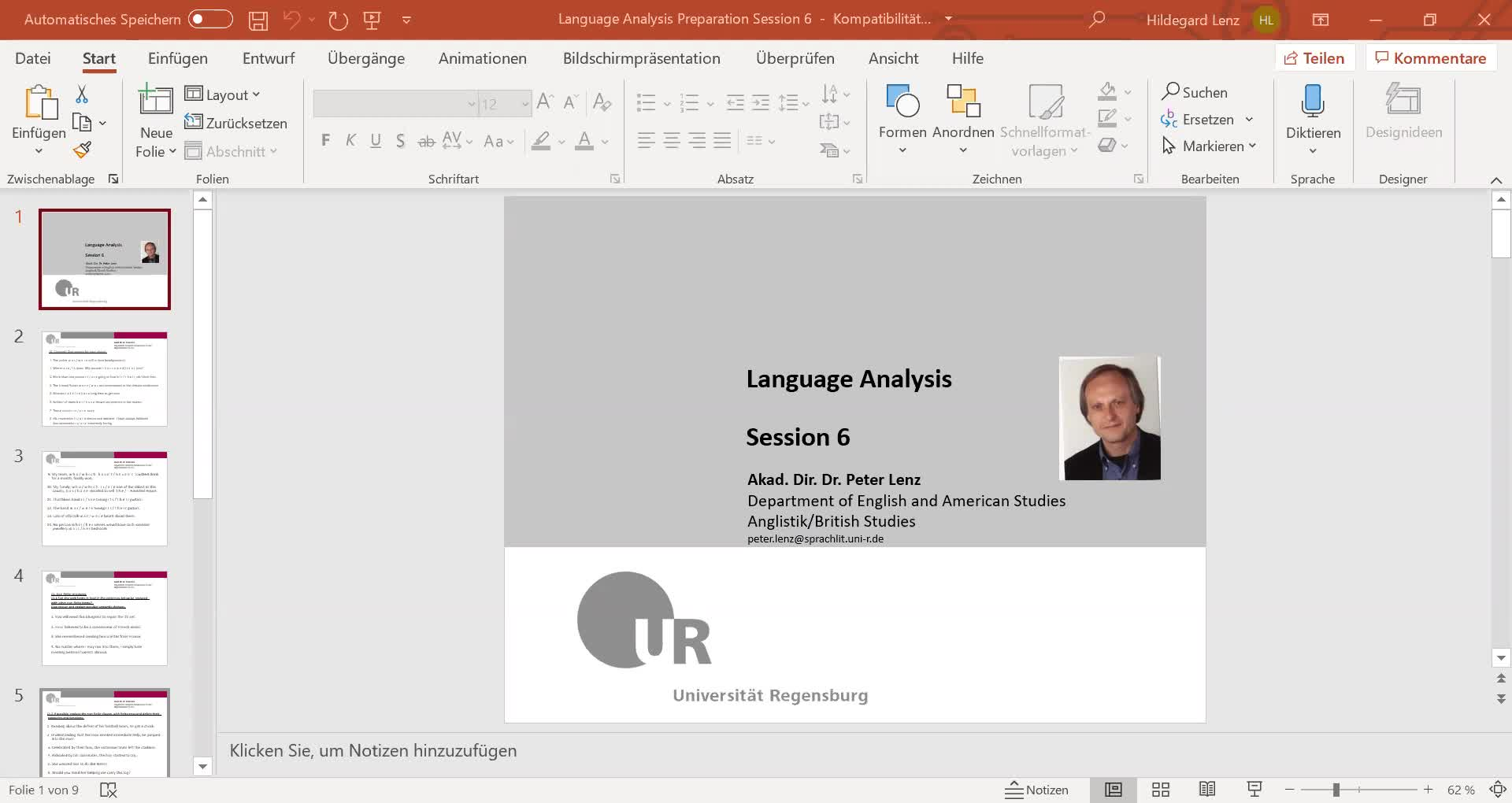 Language Analysis Session 6 Video
