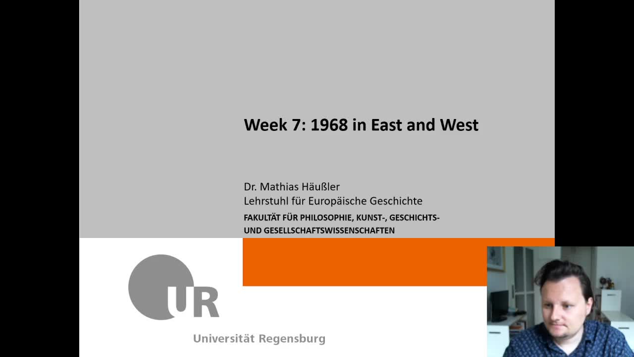 Week 7 - 1968 in East and West
