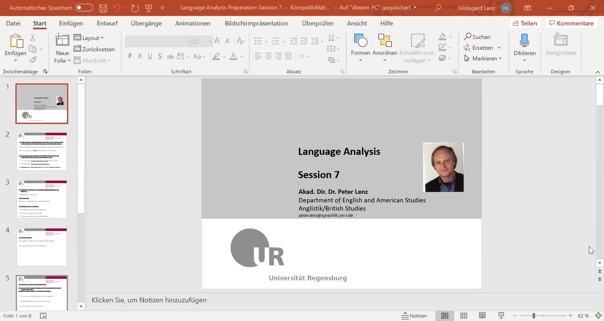 Language Analysis Session 7 Video