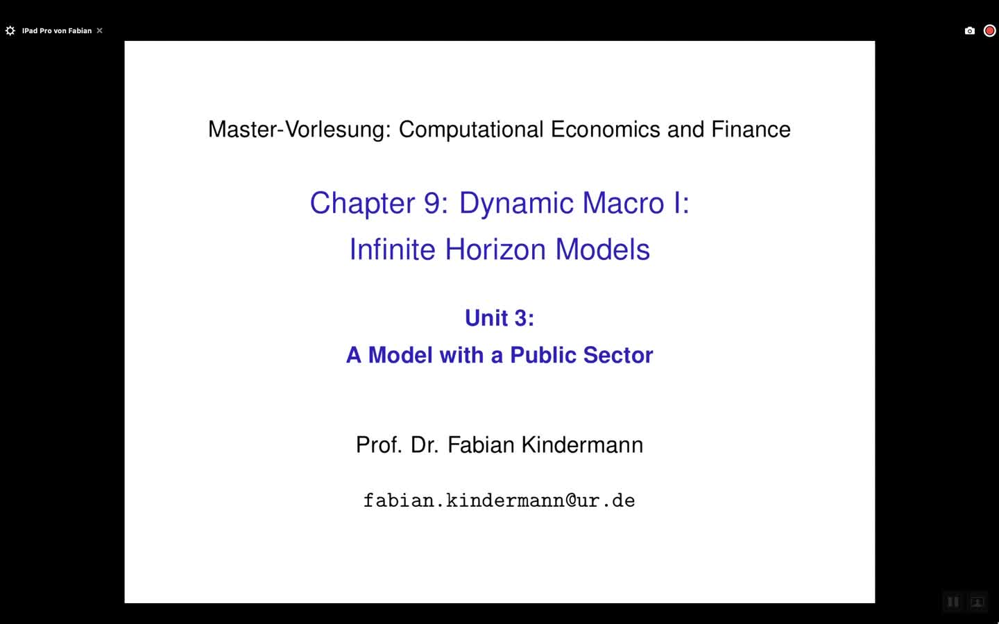 Chapter 9 - Unit 3 - A Model with a Public Sector