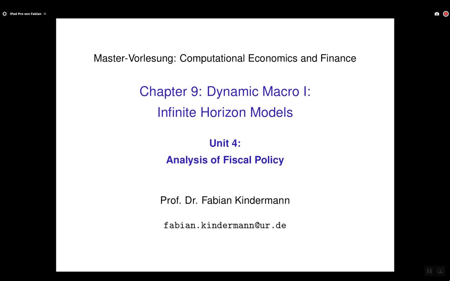 Chapter 9 - Unit 4 - Analysis of Fiscal Policy