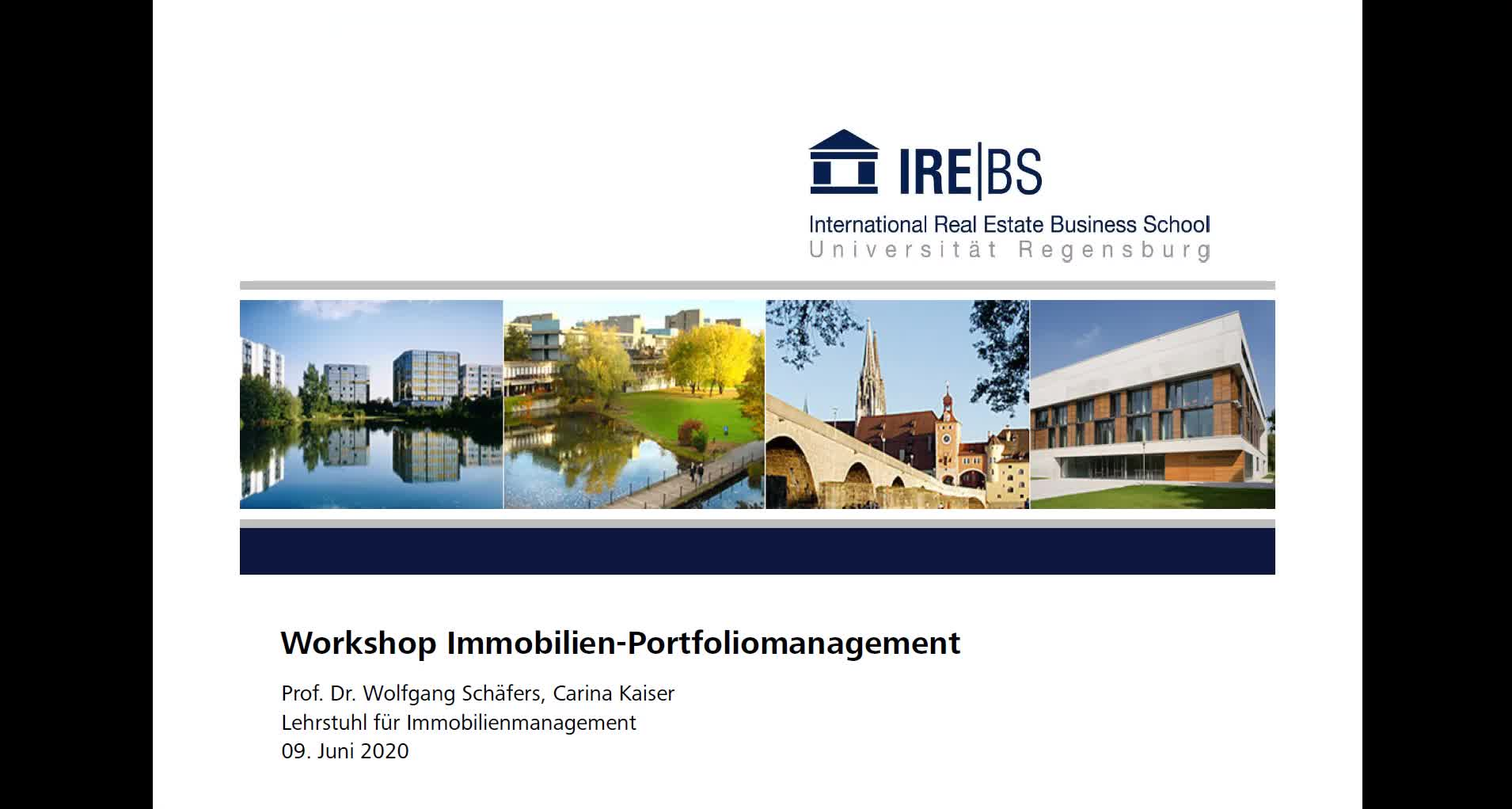 Workshop Immobilien-Portfoliomanagement