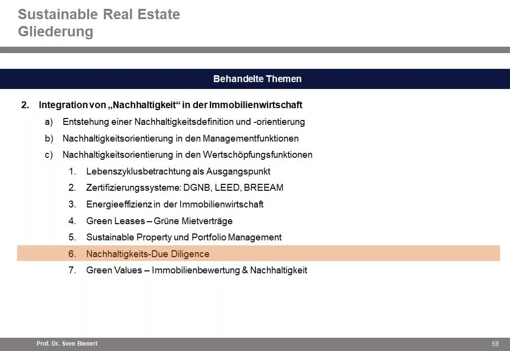 Sustainable Real Estate VL#06 - Teil 2