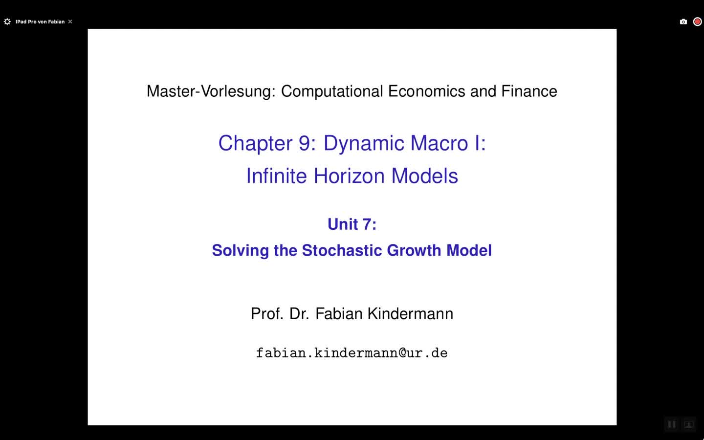 Chapter 9 - Unit 7 - Solving the Stochastic Growth Model