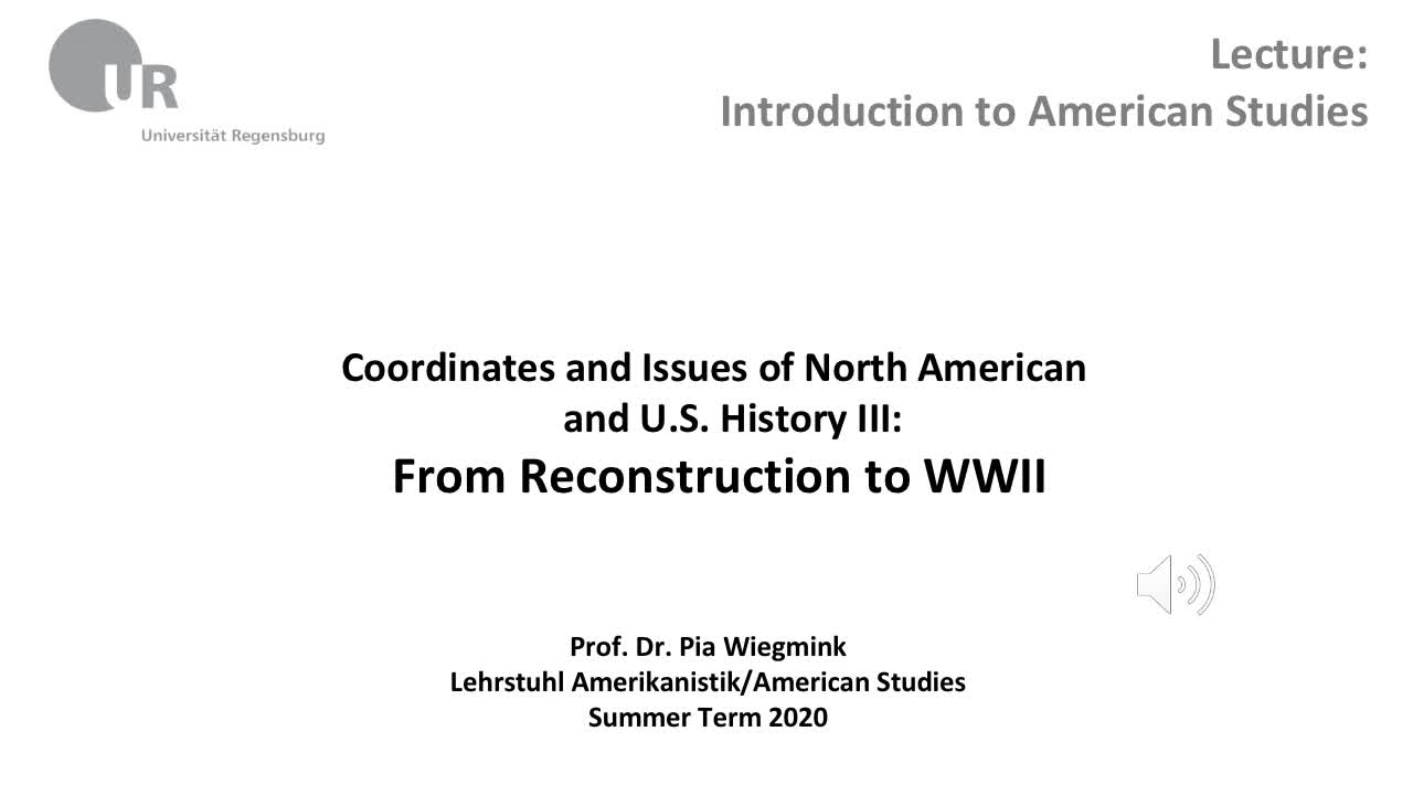 Coordinates and Issues of North American and U.S. History III