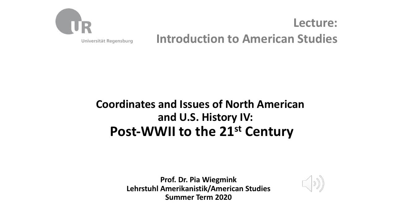 Coordinates and Issues of North American and U.S. History IV