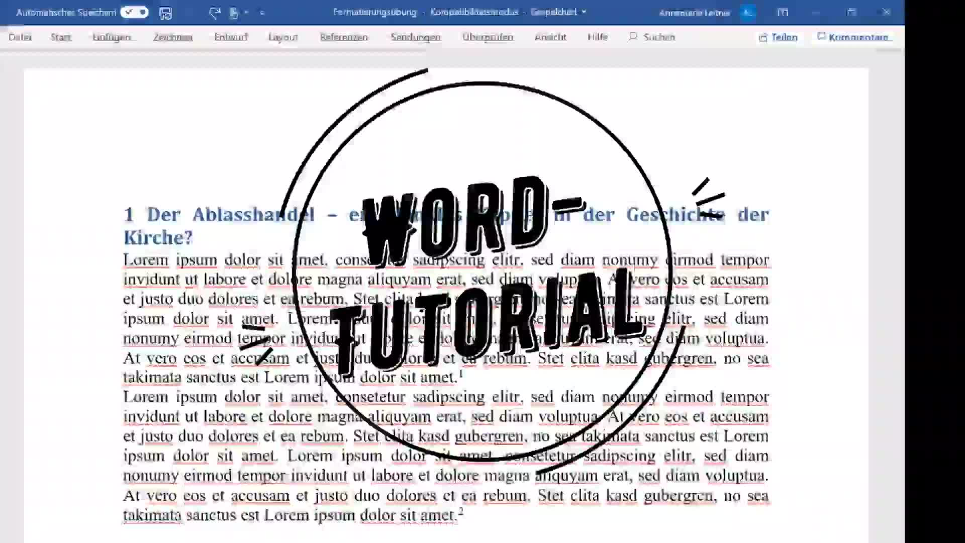 Word-Formatierungstutorial