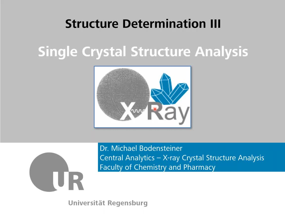Single Crystal Xray Crystallography - Theory 1