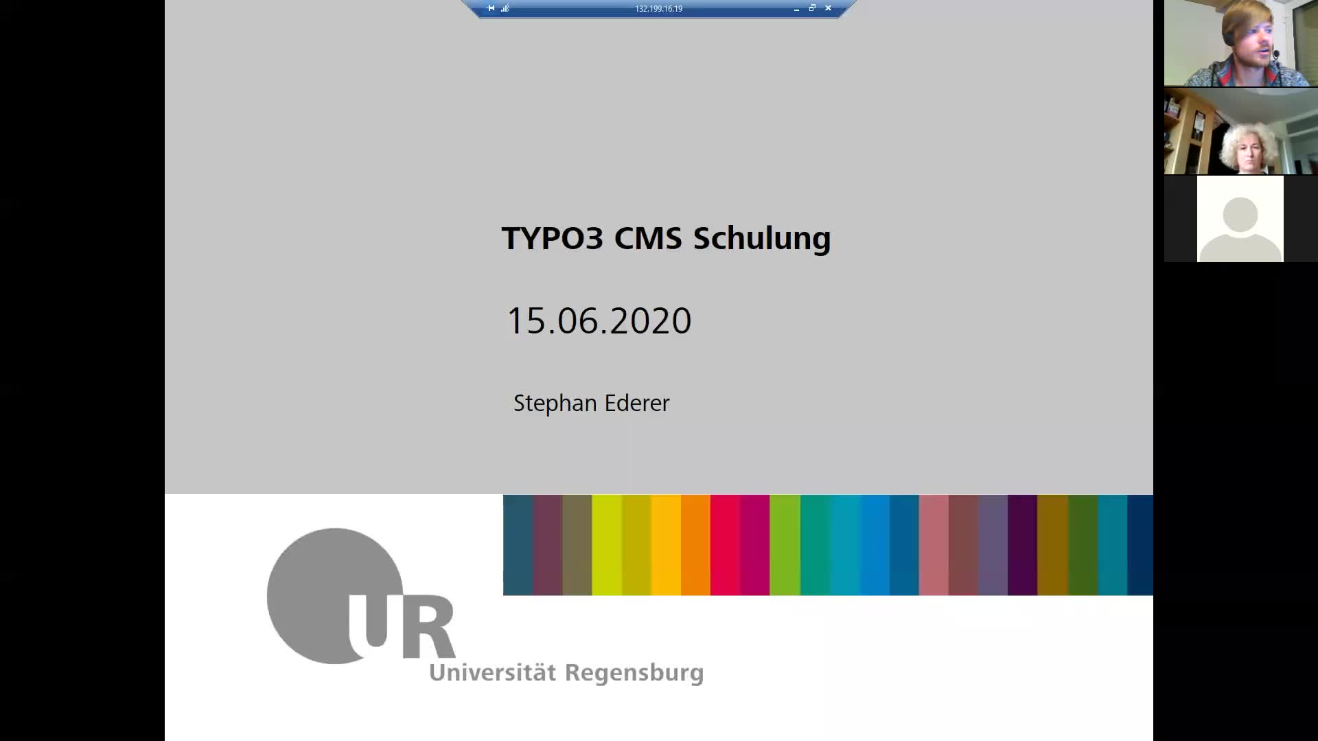 Typo3-RZ-Wiwi-Schulung Tag 1 - 15.06.2020