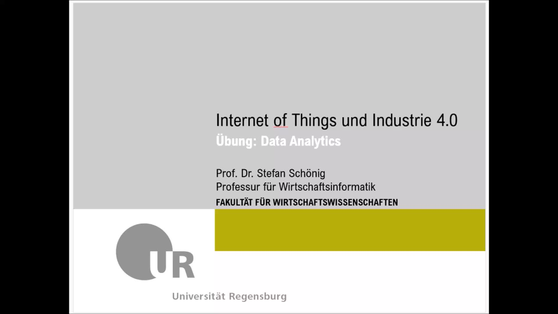SS 2020 - Internet of Things und Industrie 4.0 - Übung 8 (Data Analytics - ML Verfahren)