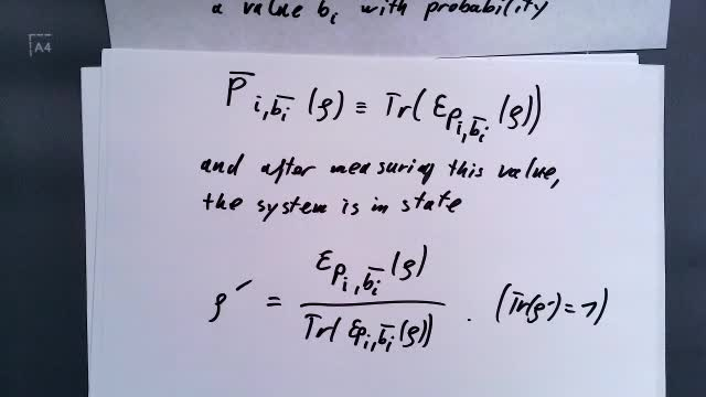 15) Formal treatment of quantum noise; principal system and environment; mixed states, density matrix, and quantum operations (I)