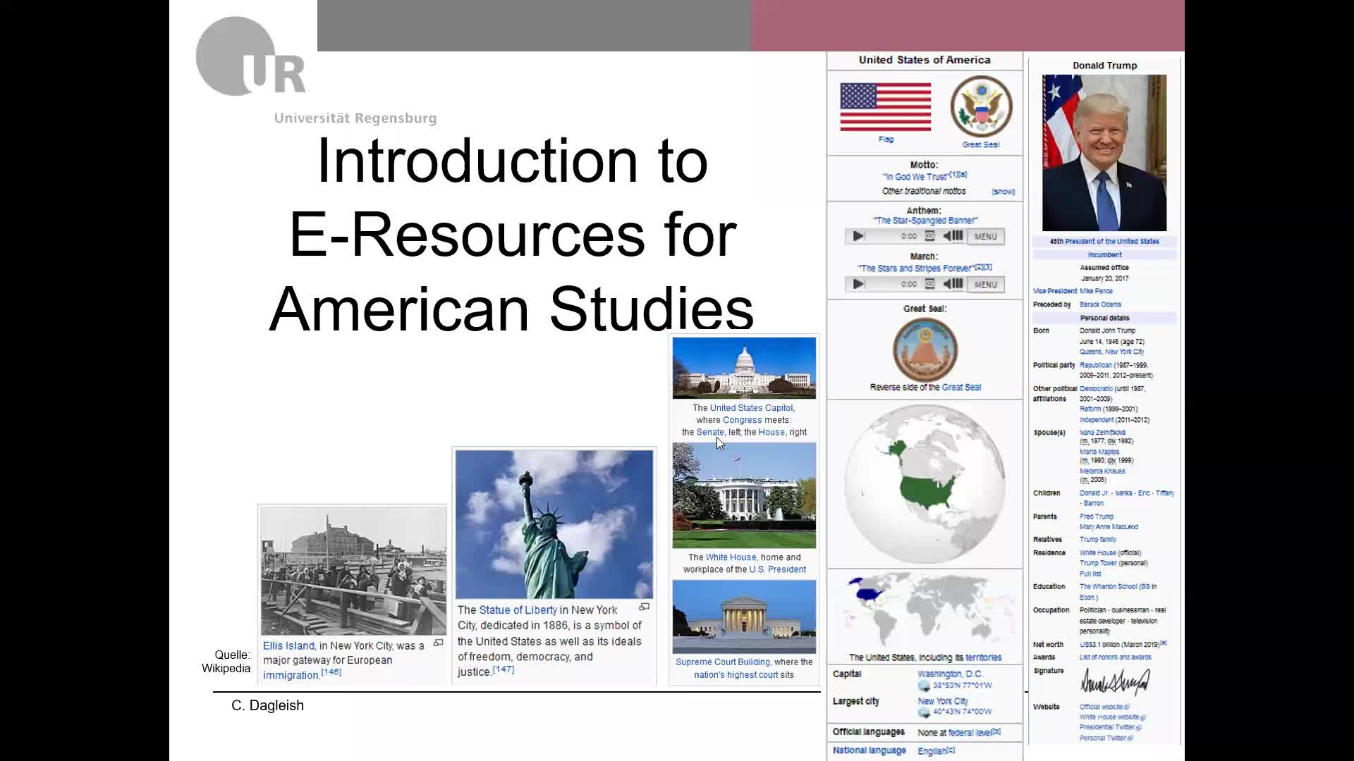 American Studies E-Resources by C. Dagleish