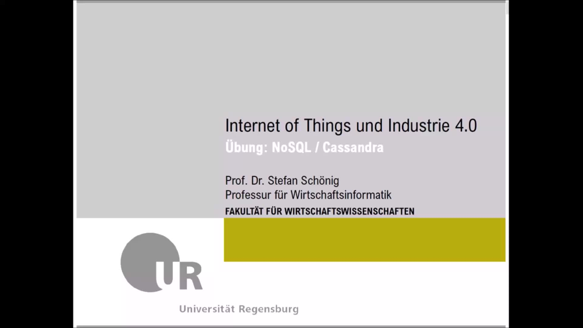 SS 2020 - Internet of Things und Industrie 4.0 - Übung 5 (NoSQL - Apache Cassandra)