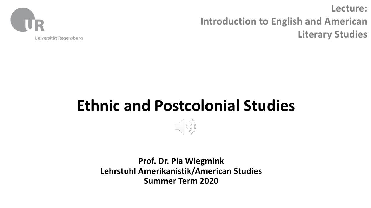 Ethnic Studies and Postcolonial Studies