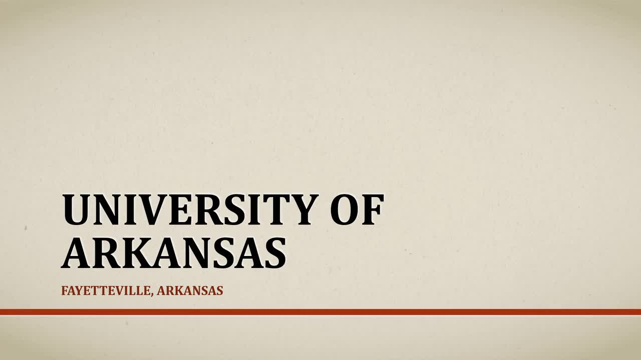 Andrea in den USA - University of Arkansas