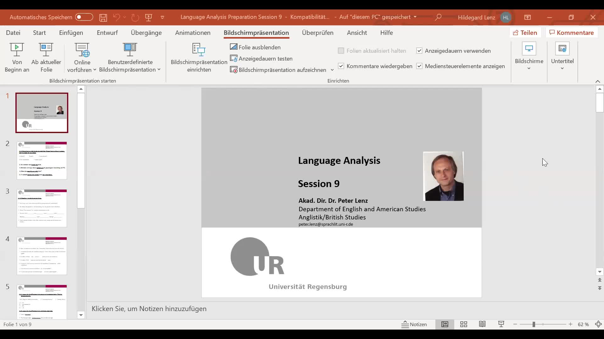 Language Analysis Session 9 Video