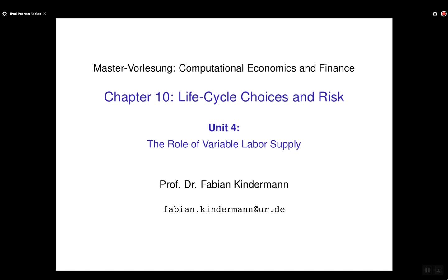 Chapter 10 - Unit 4 - The Role of Variable Labor Supply