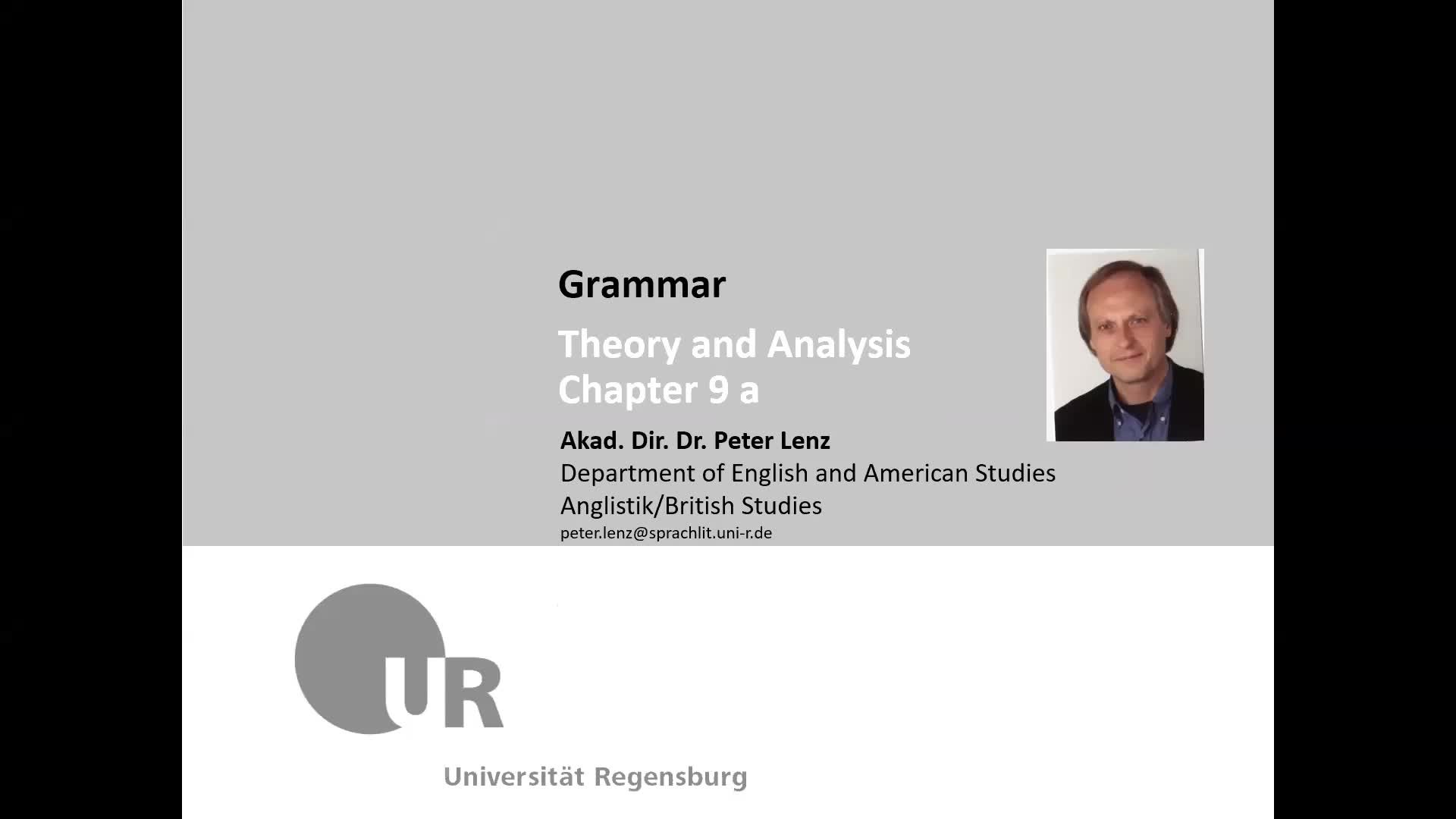 Grammar Lecture Chapter 9 a
