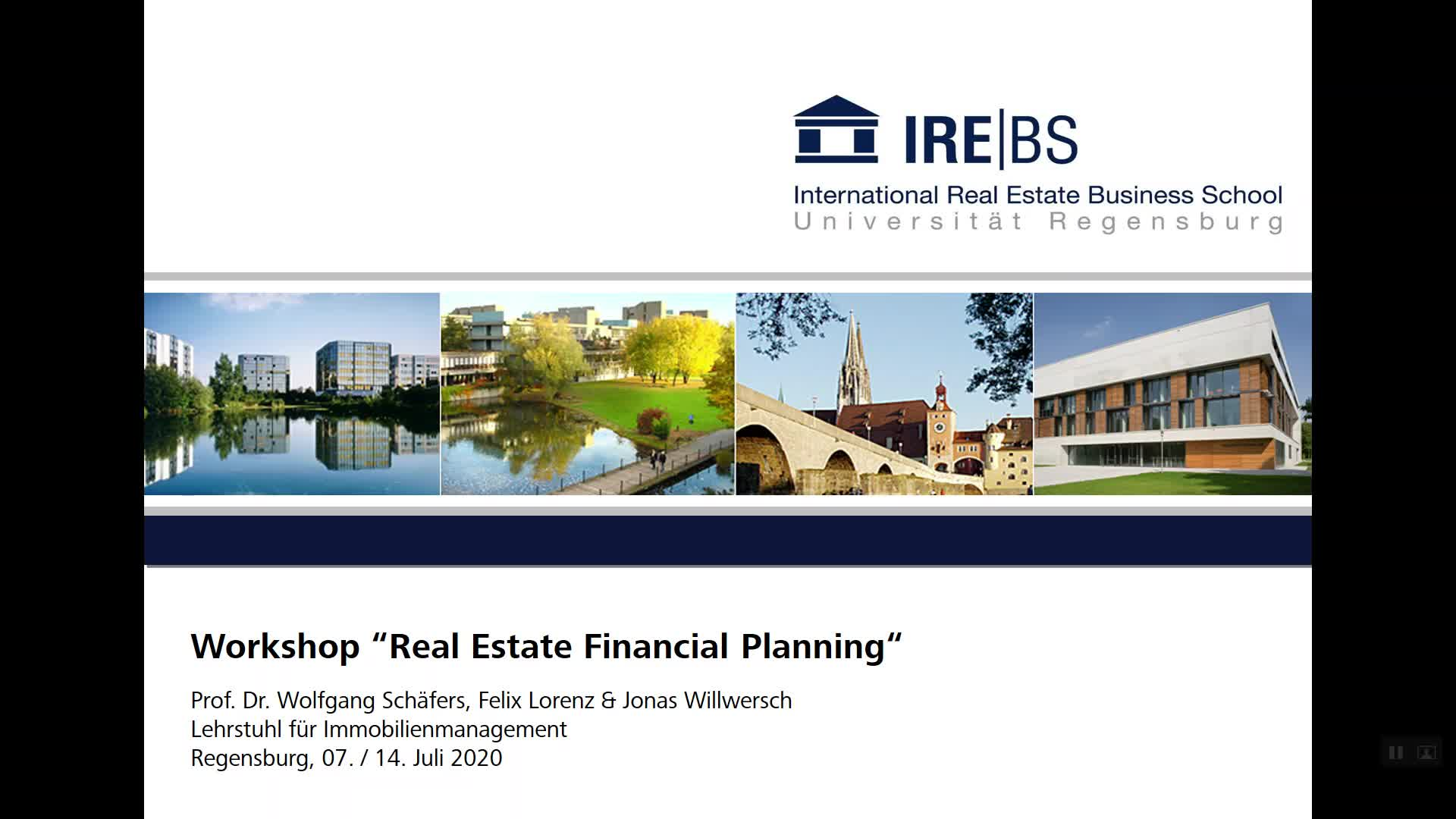 Workshop Real Estate Financial Planning - Screencast