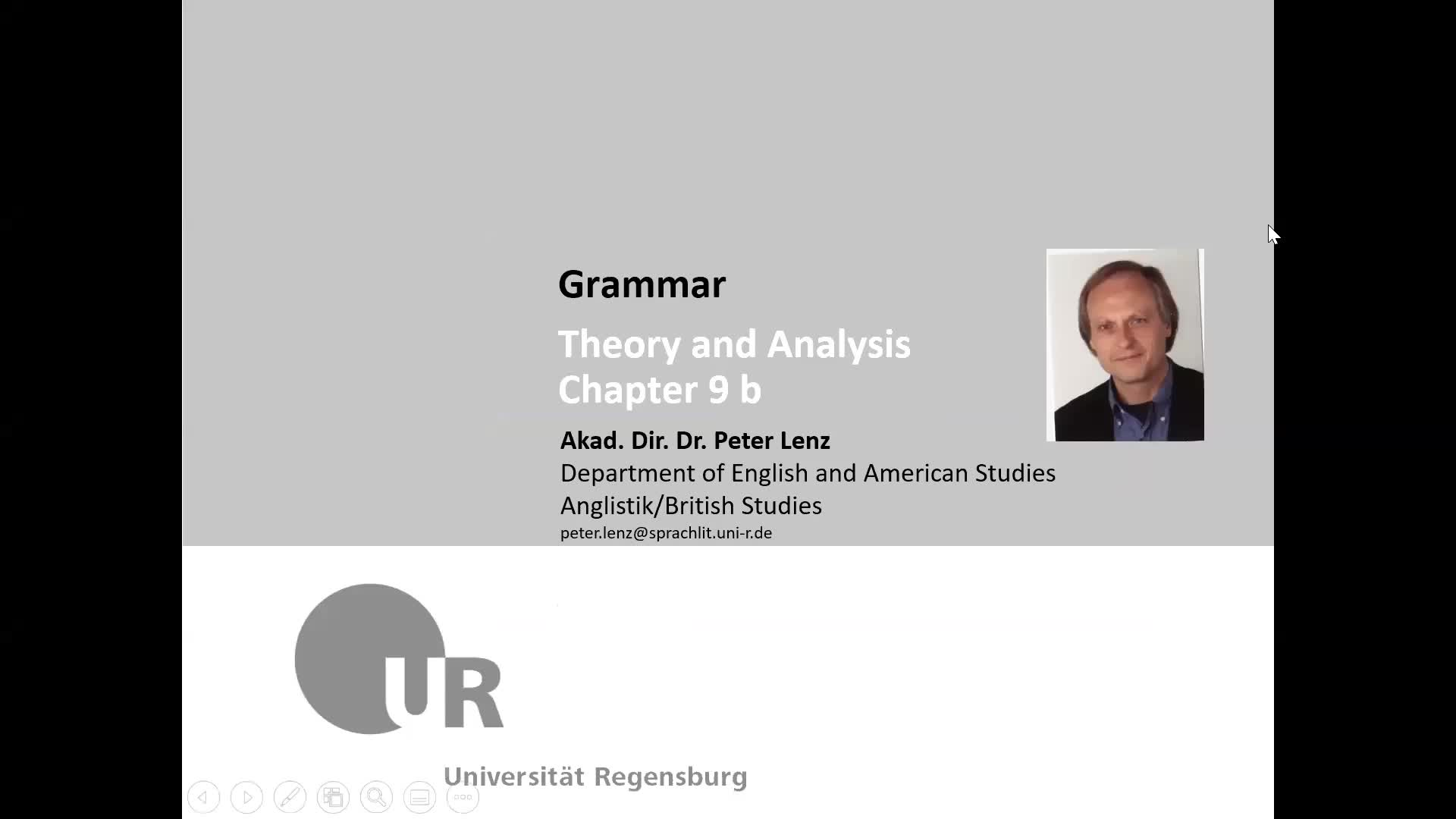 Grammar Lecture Chapter 9b Video