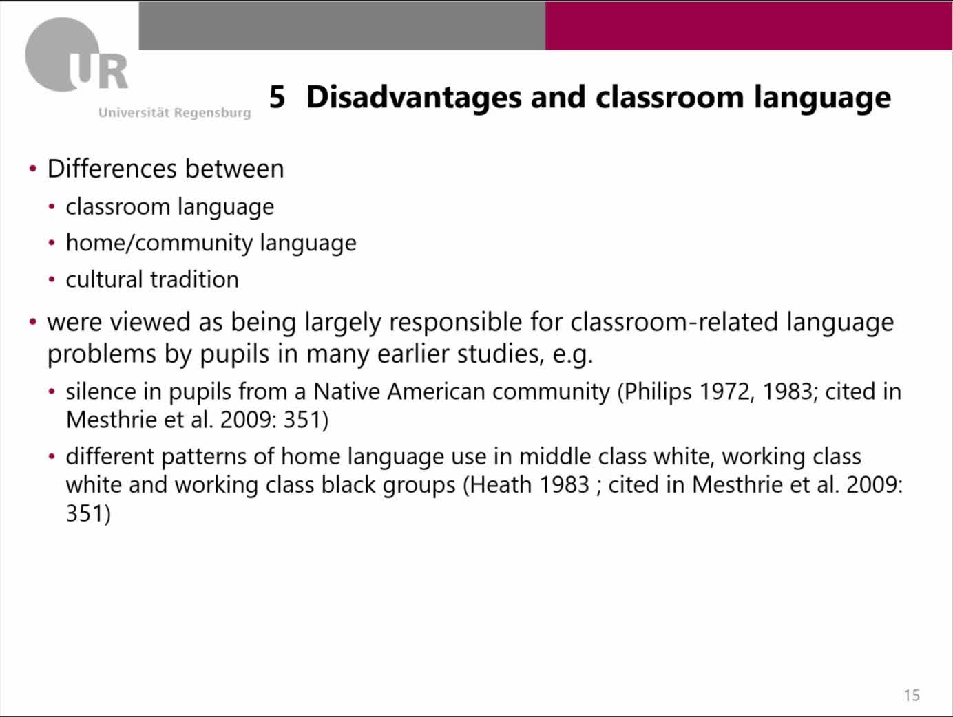 11-4-Disadvantages and classroom language