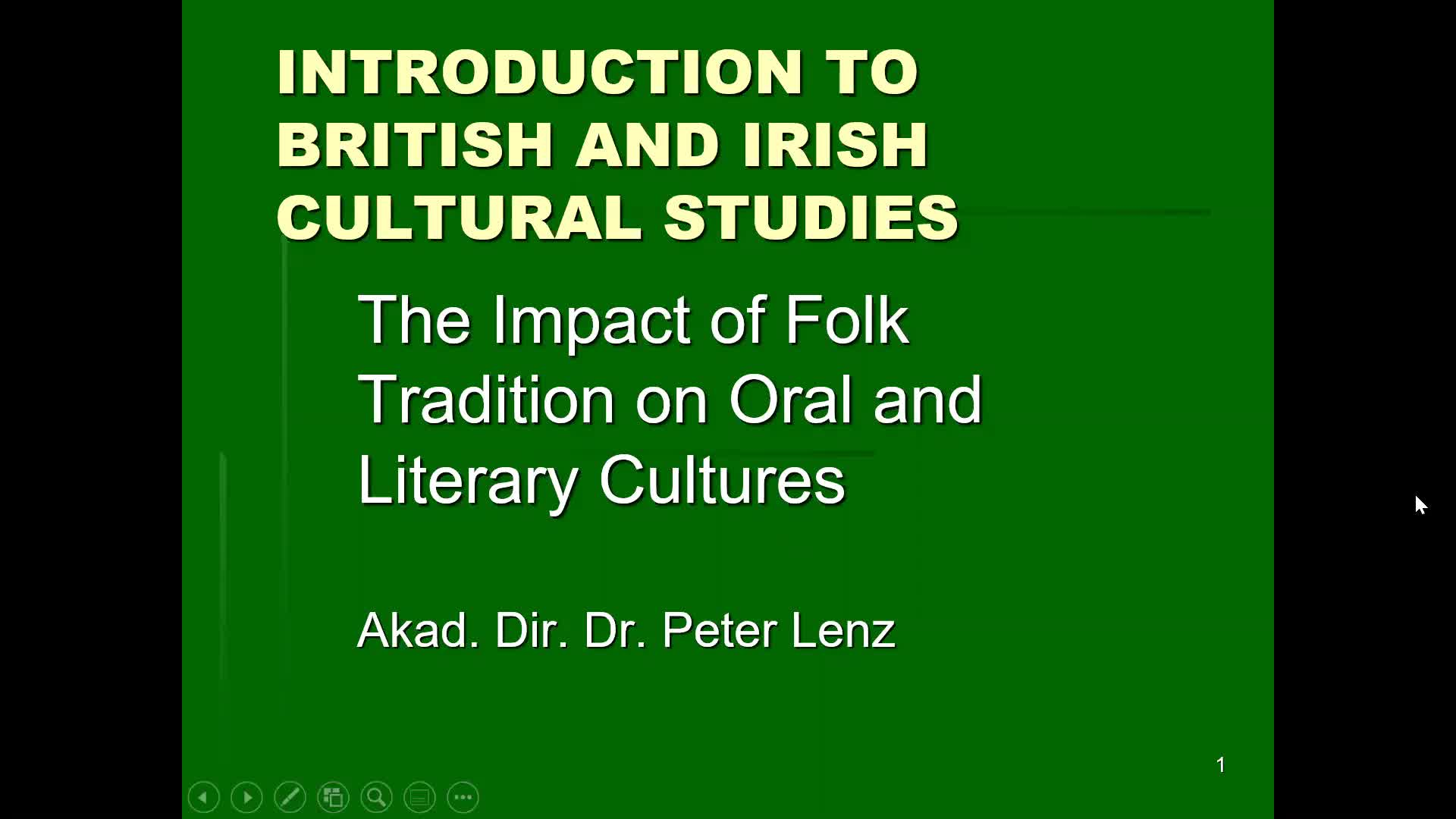 CS Lecture Irish Folk Culture