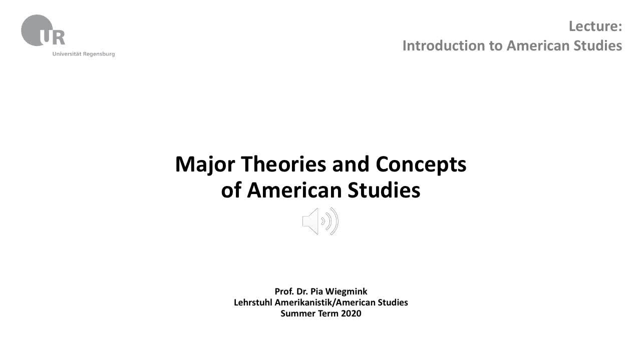 Theories and Concept of American Studies