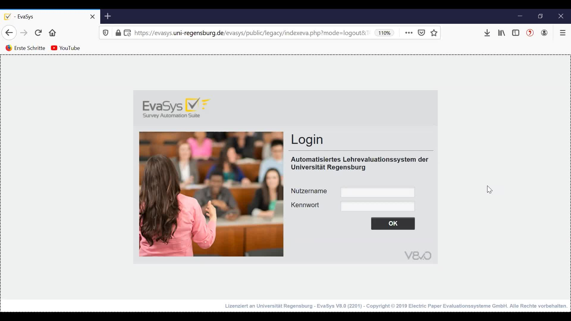 Lehrevaluation anlegen (Evasys)