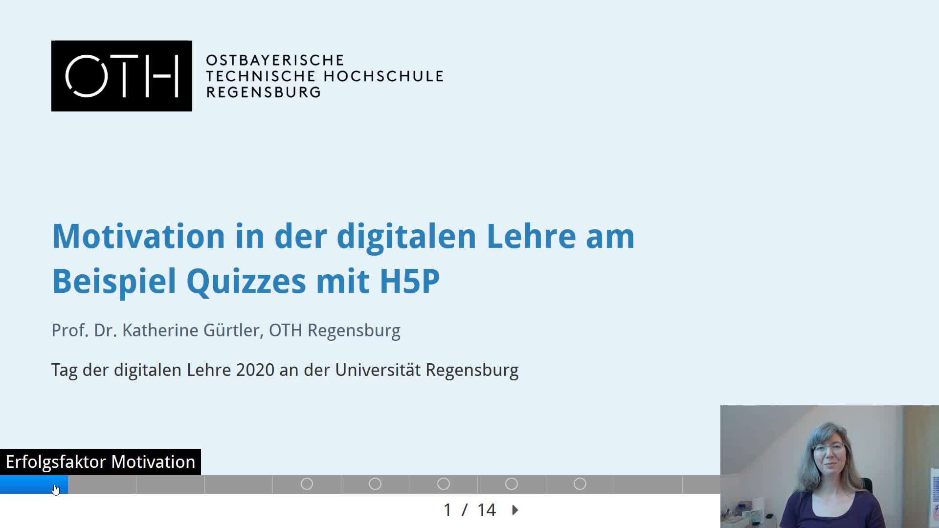Motivation in der digitalen Lehre am Beispiel Quizzes mit H5P