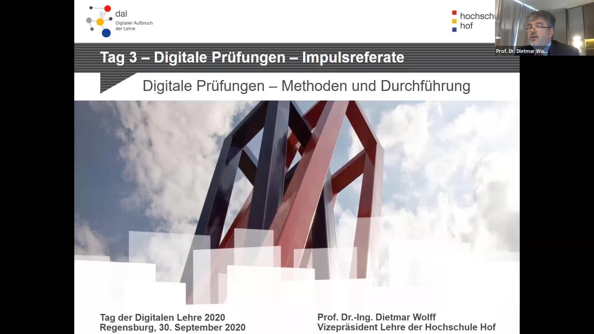 Tag der digitalen Lehre 2020 - Tag 3: Impulsreferate (Livestream | 30.09.2020)