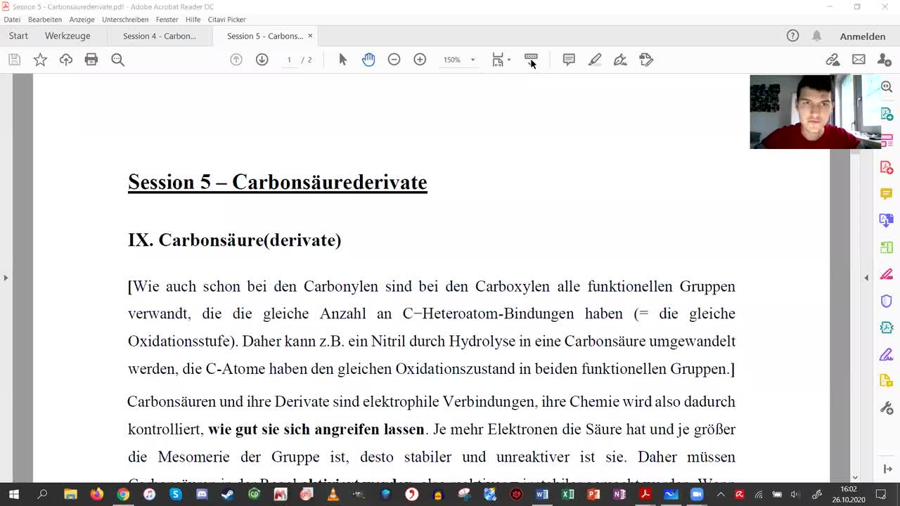 Session 5 - Carbonsäurederivate