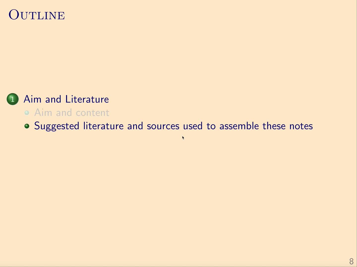 QG I: 0.2 - Suggested literature