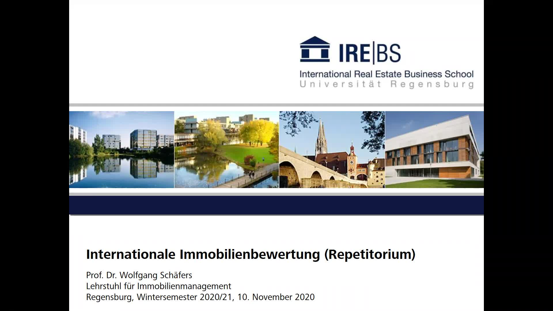 Internationale Immobilienbewertung (Repetitorium)