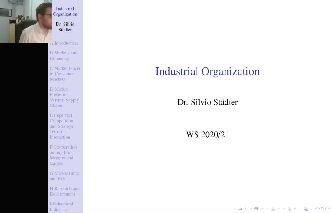 Lecture 1 - Industrial Organization - Winter Term 2020/21