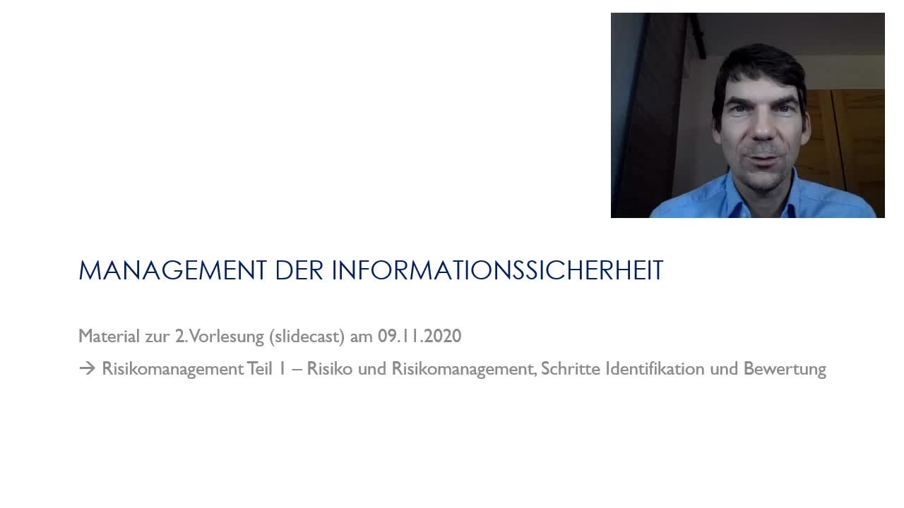 Vorlesung 02 - Risikomanagement I