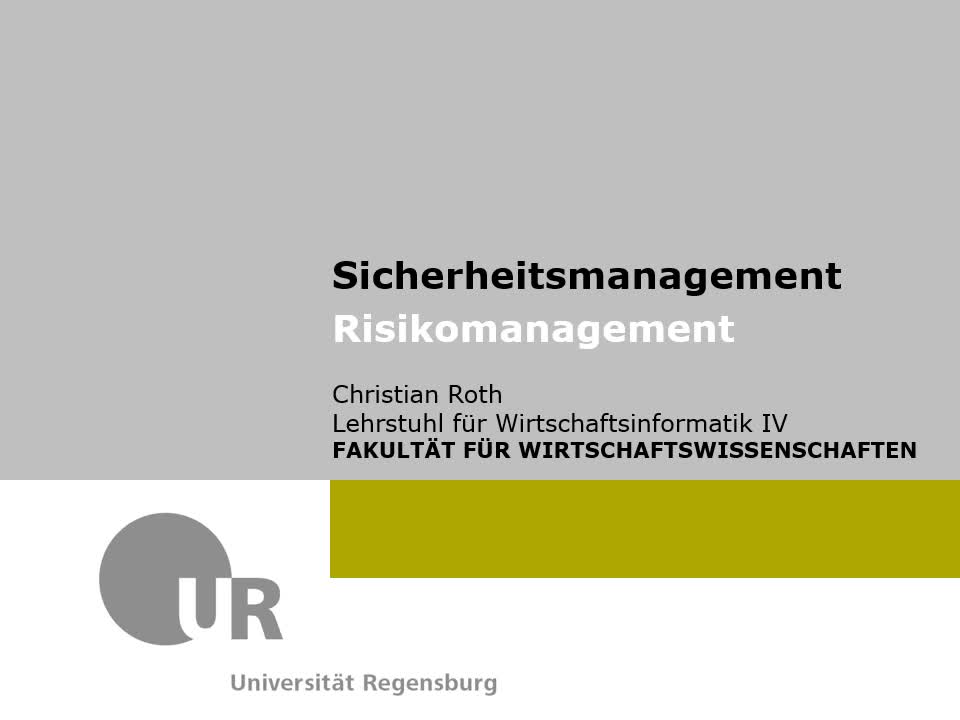 SBL 01 - Risikomanagement