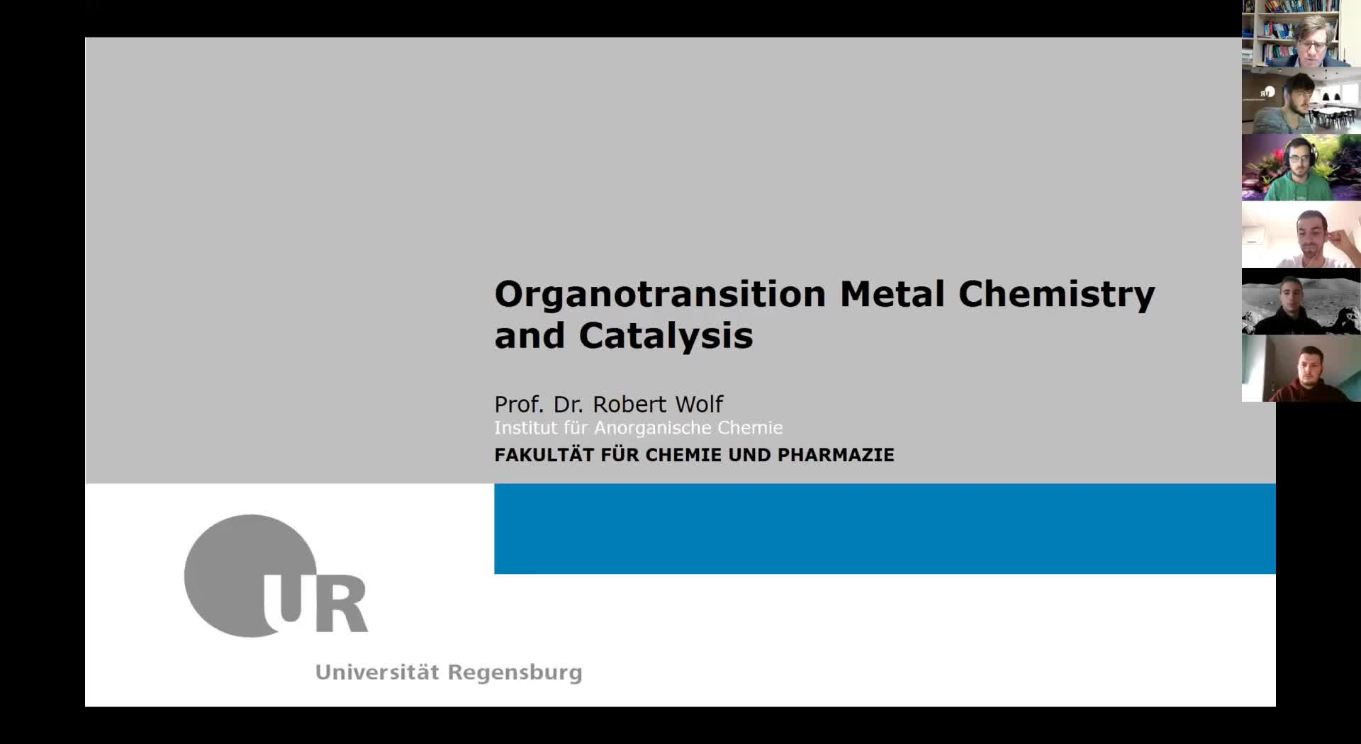 Organotransitionmetal Chemistry and Catalysis, lecture 2, 09/11/20