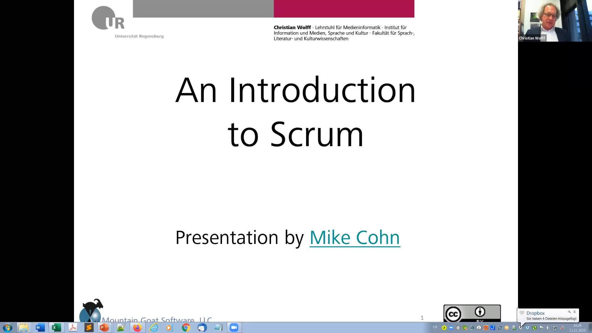 Advanced IT Project Management WS 2021: 02 Introduction to SCRUM