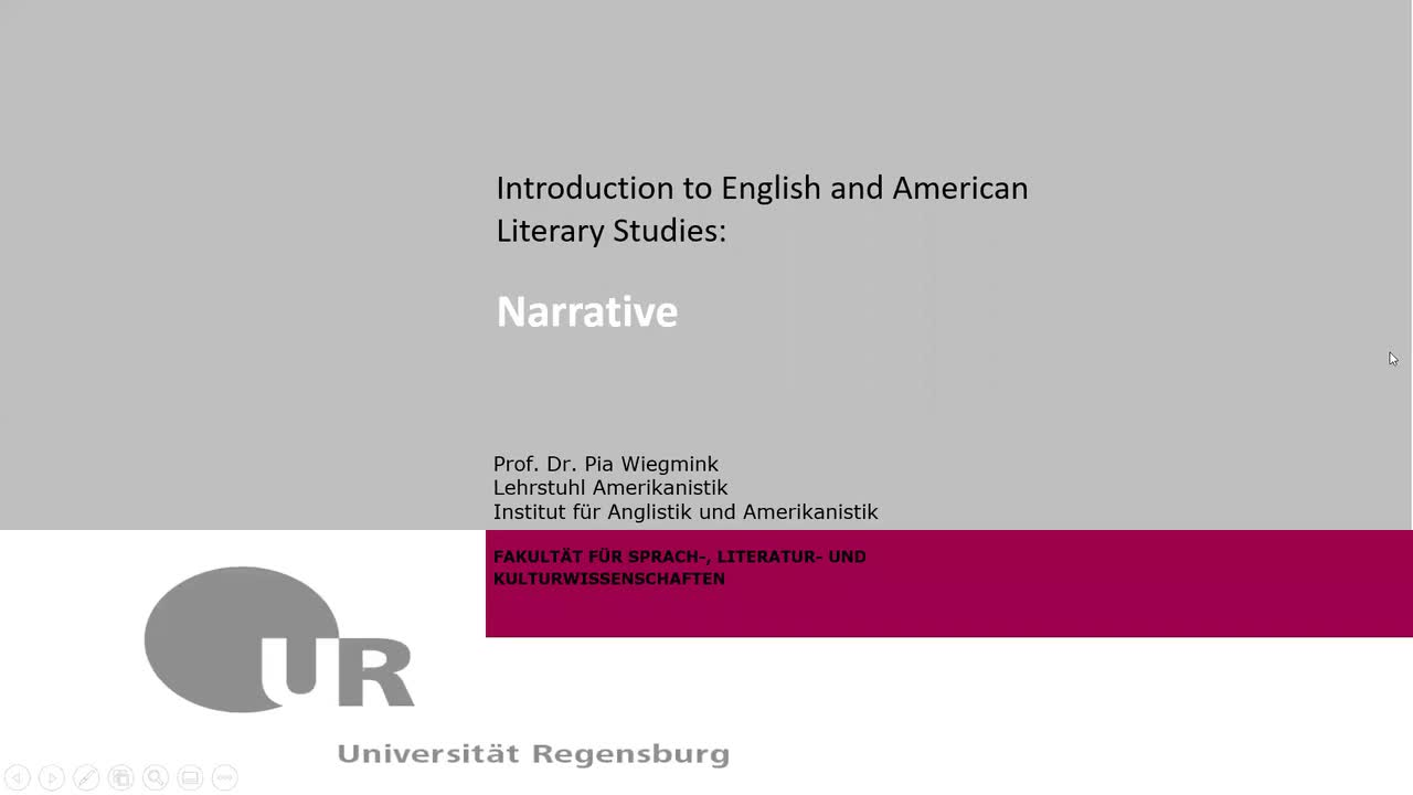 Introduction to English and American Literary Studies: Session 3