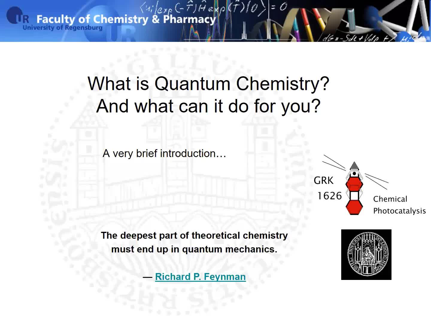 What is Quantum Chemistry - An Introduction