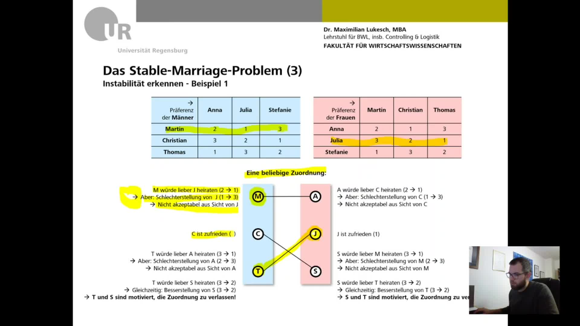 3 Stable Marriage Problem