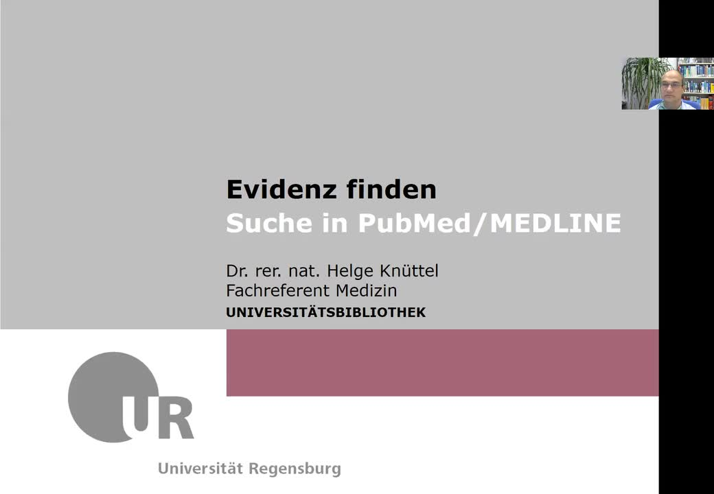 Suche in PubMed/MEDLINE - 1. Einleitung: Basics zu PubMed & MEDLINE