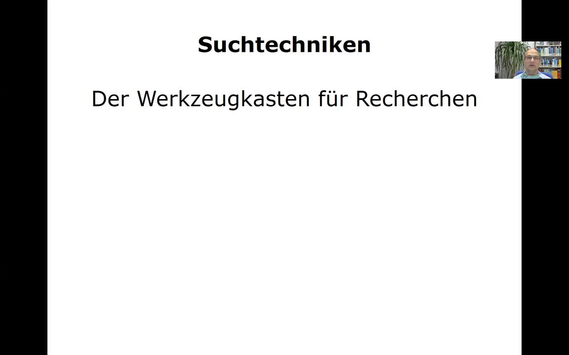 Suche in PubMed/MEDLINE - 3. Suchtechniken
