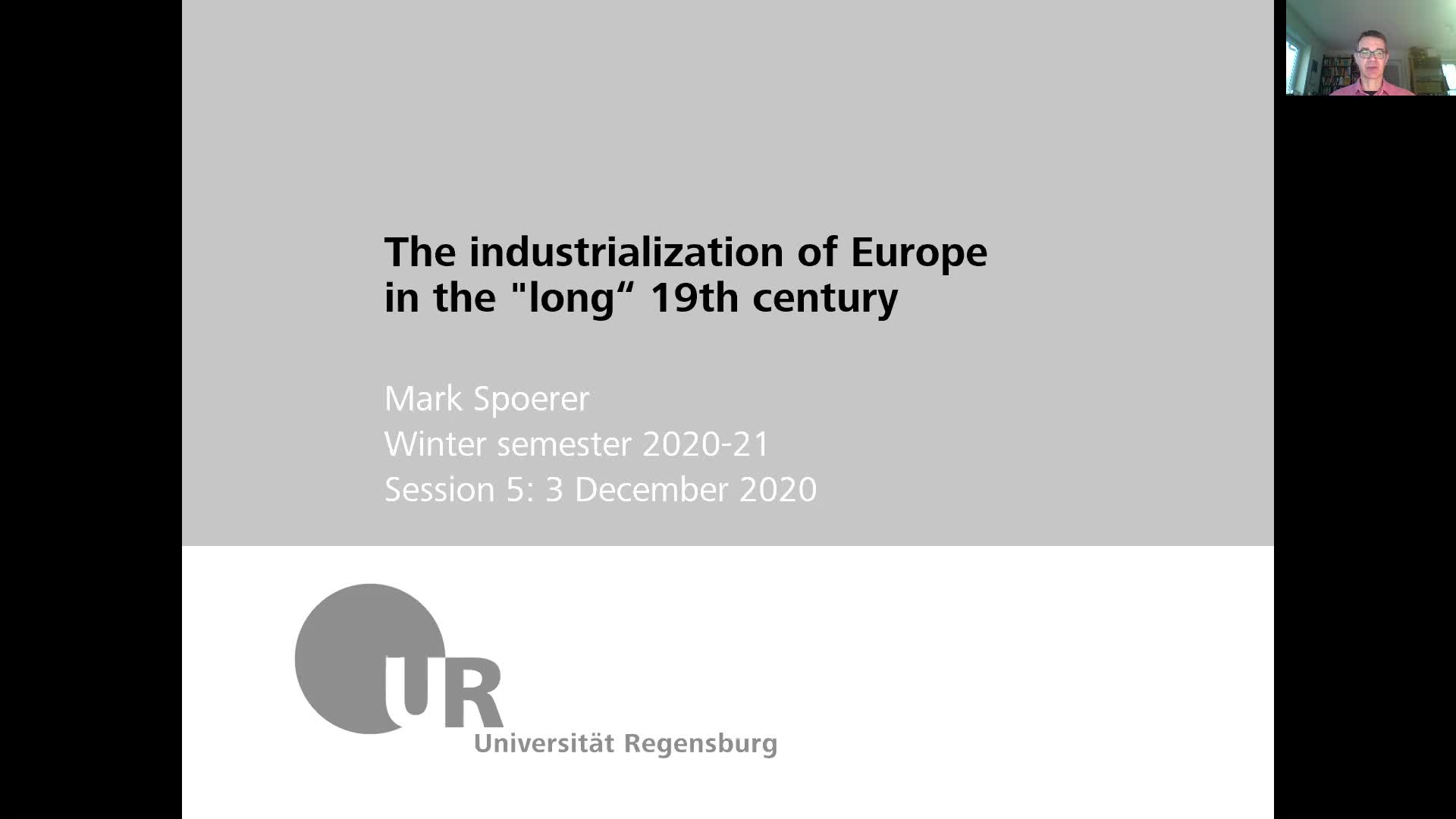 Industrialization - lecture 5